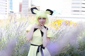 Dandelionswish in the Pokemon Gijinka Costume I made for her!