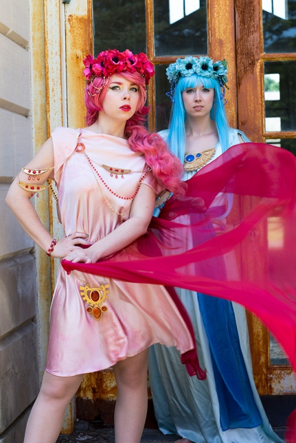 I did the Armor and Dresses for our Rayearth costumes. Dandelionswish did the Wigs and Flowers. Photo by Jeremiah Bird